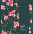 rose realistic fower pattern in holiday texture vector image