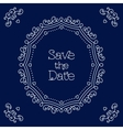 save date card line art wedding design vector image