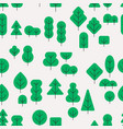 seamless forest pattern with different shapes vector image vector image