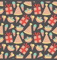 seamless pattern with ice cream in vector image vector image