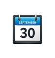 September 30 Calendar icon vector image vector image