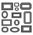 set black and white frames vector image