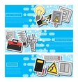 Set of Horizontal Banners about electricity vector image