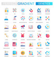 set trendy flat gradient genetics and vector image