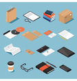 Stationary isometric set 2 vector image vector image