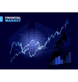 Stock Market Chart vector image