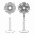 two electric fans vector image vector image