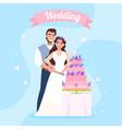wedding cake couple image vector image