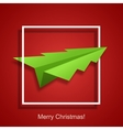 concept christmas tree and origami airplane vector image