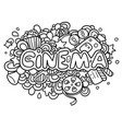 cinema doodle vector image