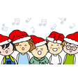 kids singing vector image