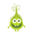 Funny Smiling Germ Green Cartoon Character vector image