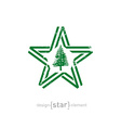 star with Norfolk Island flag colors symbols and vector image