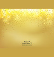 abstract of golden glitters gradient background vector image vector image