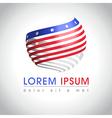 American flag logo vector image