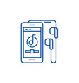 audio player line icon concept audio player flat vector image
