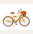 autumn bicycle with orange flowers