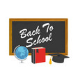 back to school design with school supplies icons vector image