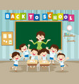back to school with primary school pupil vector image vector image