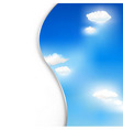 background with clouds and sky vector image vector image