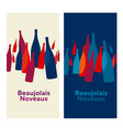 beaujolais nouveau concept abstract vector image vector image