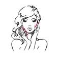 Beauty Portrait vector image vector image