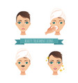 beauty treatment acne treatment vector image vector image