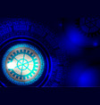 blue abstract digital technology concept vector image vector image