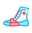 boxing shoes sneakers icon outline vector image vector image