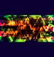 bright shiny triangles vector image