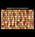 bronze orange glossy gradient metal foil texture vector image