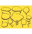 Bubble Talk Collection Sketch Drawing vector image vector image