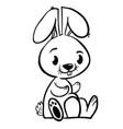 bunny black vector image vector image