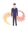 business characters poses and actions vector image vector image