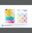 business polygonal set of design brochure vector image vector image