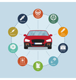 car infographic vector image