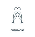 champagne outline icon premium style design from vector image vector image