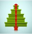 christmas tree gifts vector image