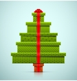 Christmas Tree of Gifts vector image vector image