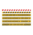 collection social distance floor tapes warning vector image