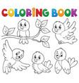 coloring book happy birds theme 1 vector image vector image