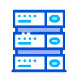 computer equipment server thin line icon vector image vector image