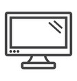 computer monitor line icon screen and device vector image vector image