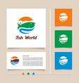 creative concept fish world logo design vector image
