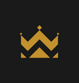 crown icon in flat style gold crown on black vector image