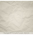 Crumpled paper background vector image vector image