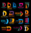 d color trend signs corporate identity icons vector image