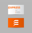 delivery express logo vector image