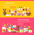easter holiday website banners vector image vector image