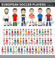 european soccer cup tournament 2020- 2021 player vector image